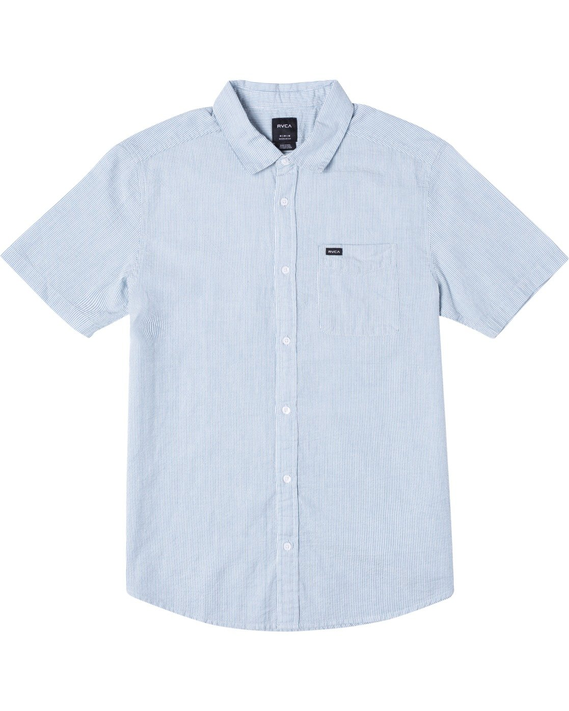 0 ENDLESS SEERSUCKER SHORT SLEEVE SHIRT Brown M5192RES RVCA