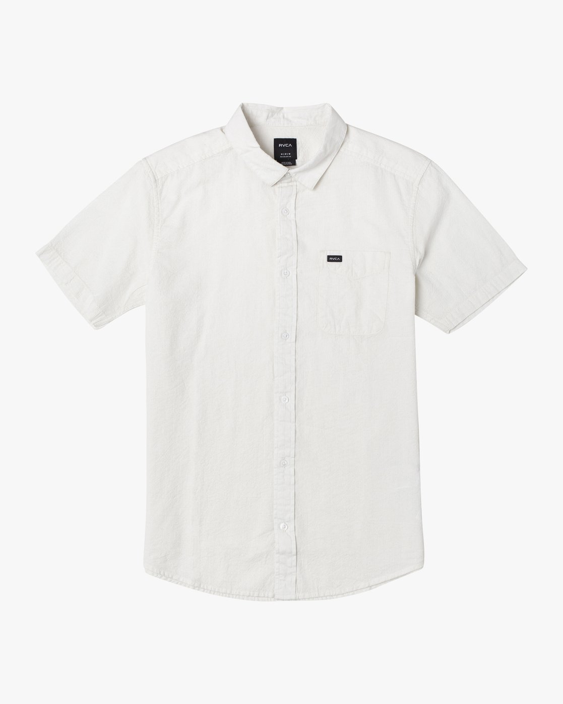 1 ENDLESS SEERSUCKER SHORT SLEEVE SHIRT White M5192RES RVCA