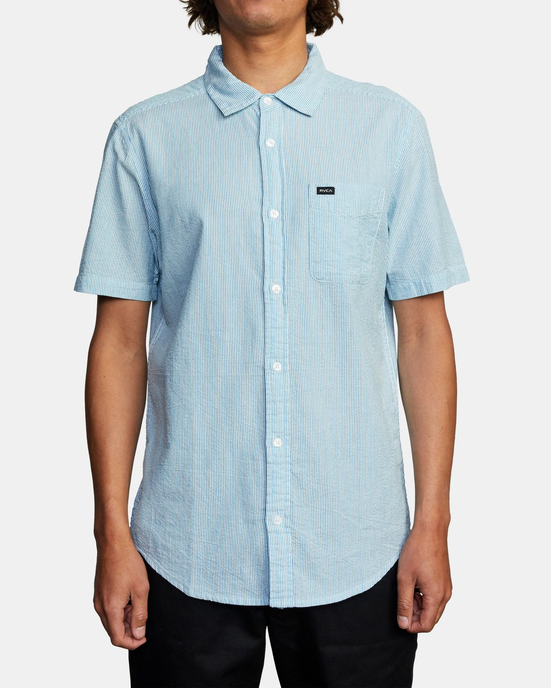 1 ENDLESS SEERSUCKER SHORT SLEEVE SHIRT Brown M5192RES RVCA