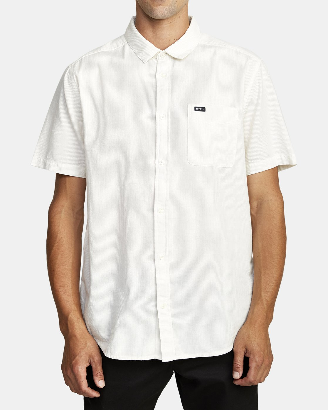 1 ENDLESS SEERSUCKER SHORT SLEEVE SHIRT Silver M5192RES RVCA