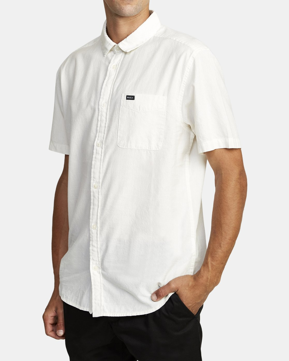 3 ENDLESS SEERSUCKER SHORT SLEEVE SHIRT Silver M5192RES RVCA