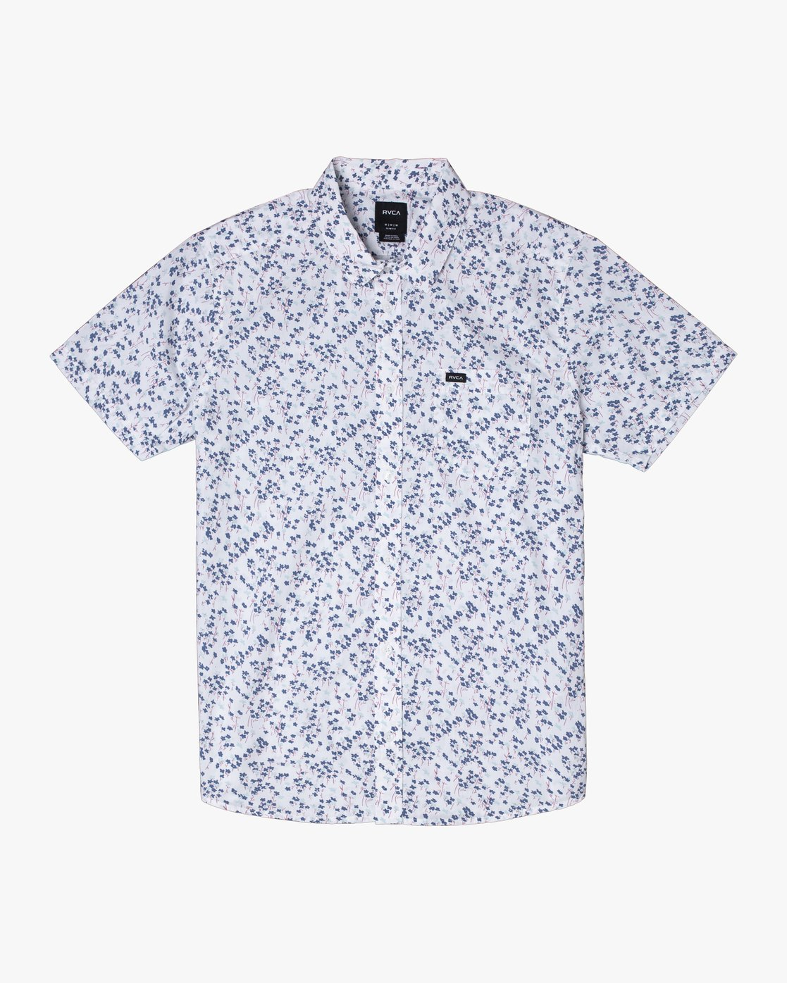 8 ETERNAL SHORT SLEEVE SHIRT White M5202RET RVCA