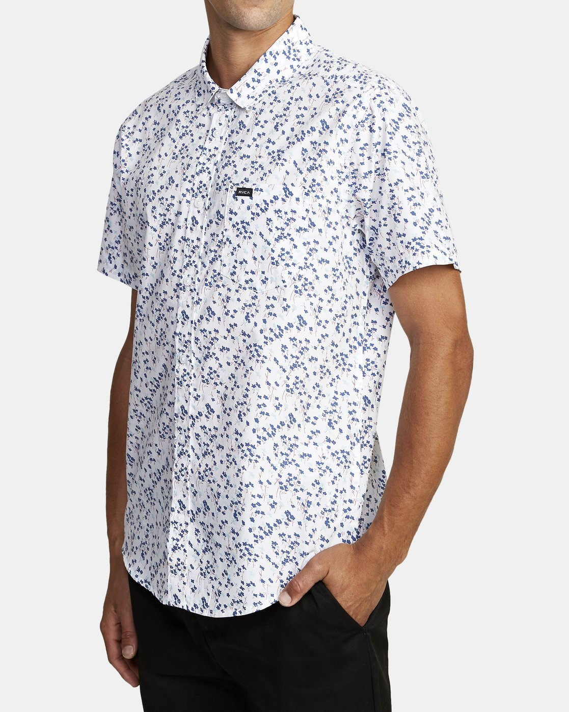 2 ETERNAL SHORT SLEEVE SHIRT White M5202RET RVCA