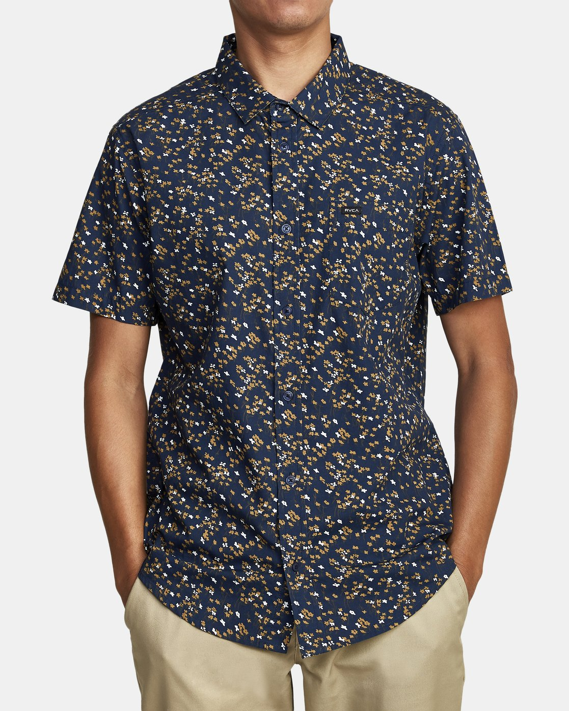 1 ETERNAL SHORT SLEEVE SHIRT Blue M5202RET RVCA