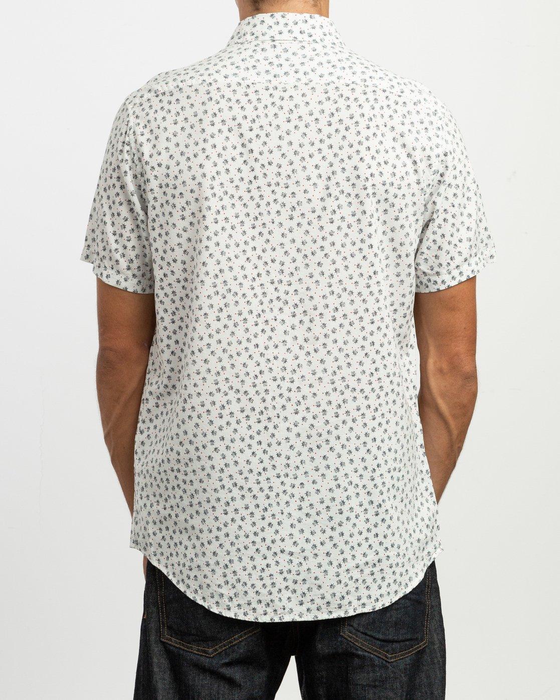 3 Ficus Floral Button-Up Shirt White M520TRBF RVCA
