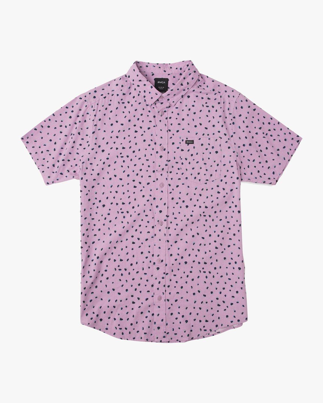 3 Shake Along Button-Up Shirt Purple M521TRSA RVCA