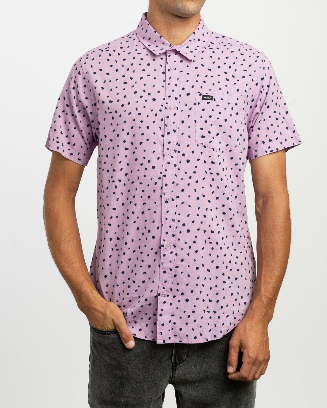 0 Shake Along Button-Up Shirt Purple M521TRSA RVCA