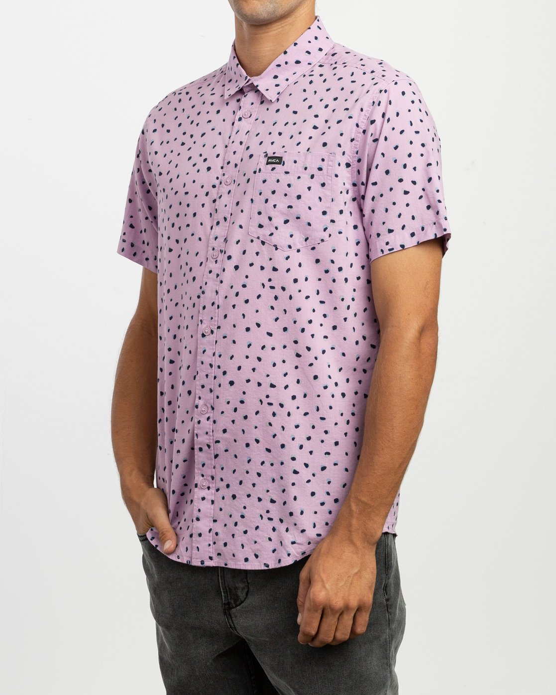1 Shake Along Button-Up Shirt Purple M521TRSA RVCA