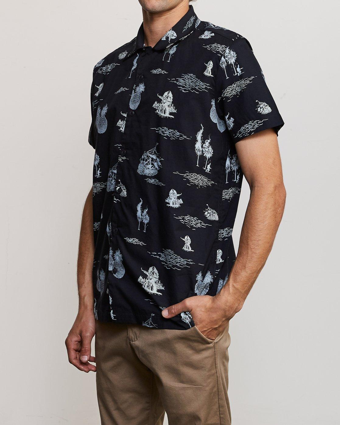 2 Ancell Hula Gunz T-Shirt Black M549URHG RVCA