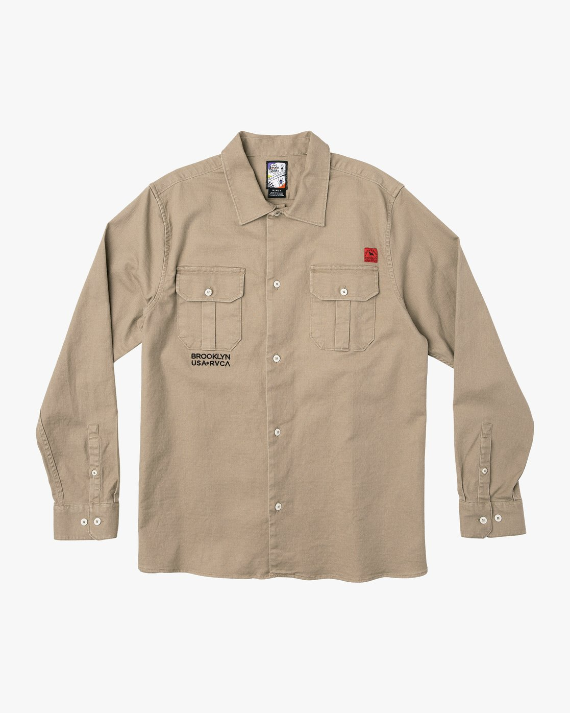 3 Smith Street Long Sleeve Shirt Grey M550VRSS RVCA
