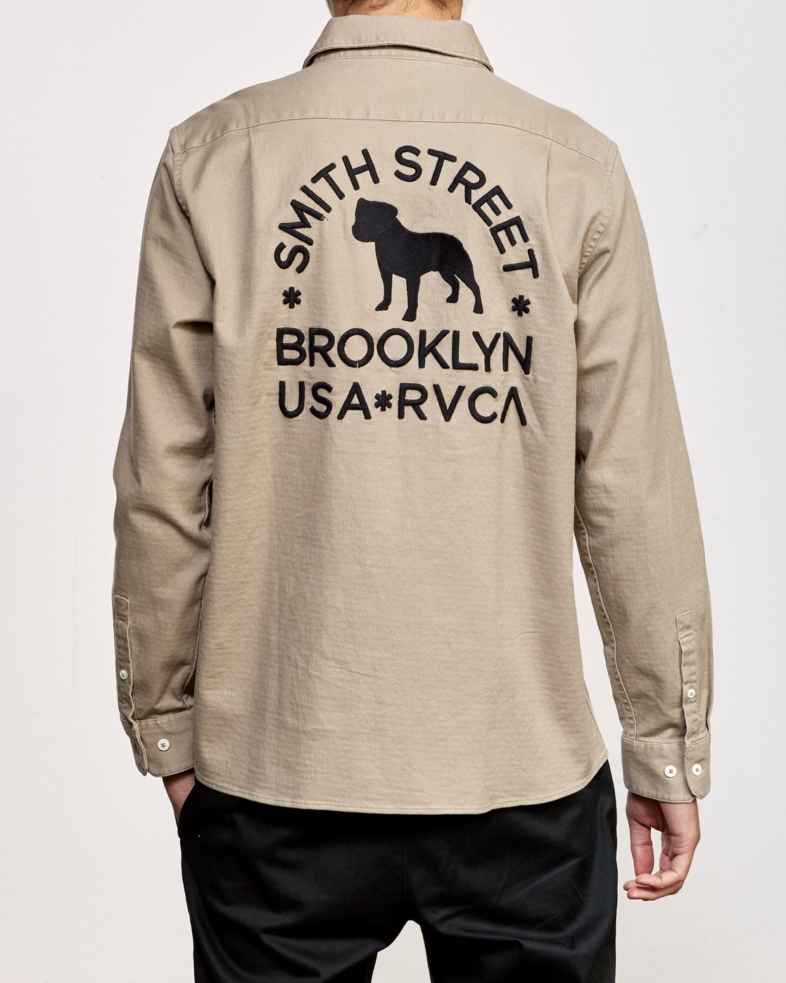 1 Smith Street Long Sleeve Shirt Grey M550VRSS RVCA