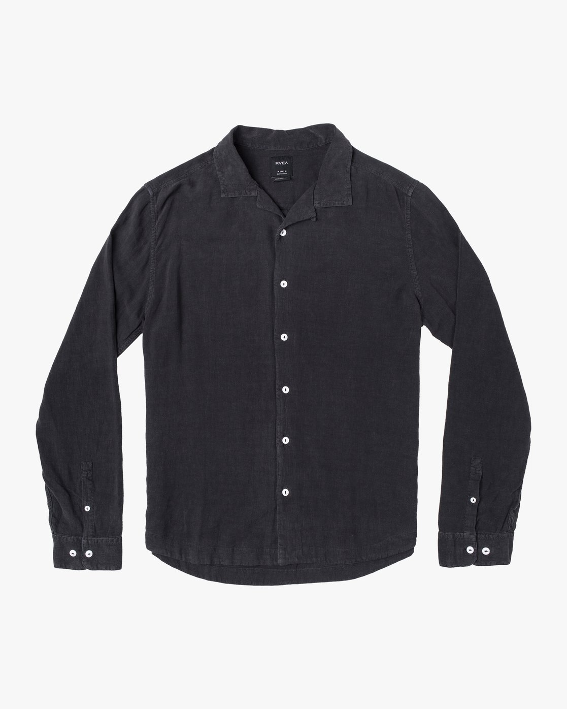 6 BEAT LONG SLEEVE SHIRT Black M5513RBL RVCA