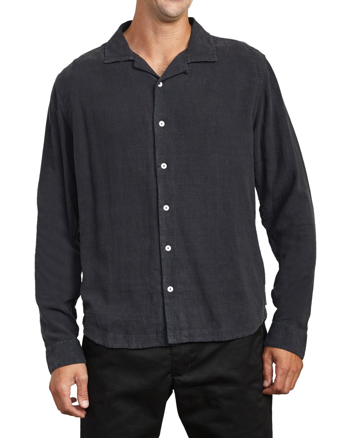 0 BEAT LONG SLEEVE SHIRT Black M5513RBL RVCA