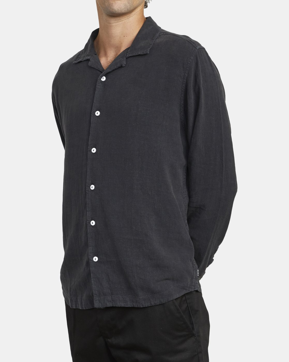 5 BEAT LONG SLEEVE SHIRT Black M5513RBL RVCA