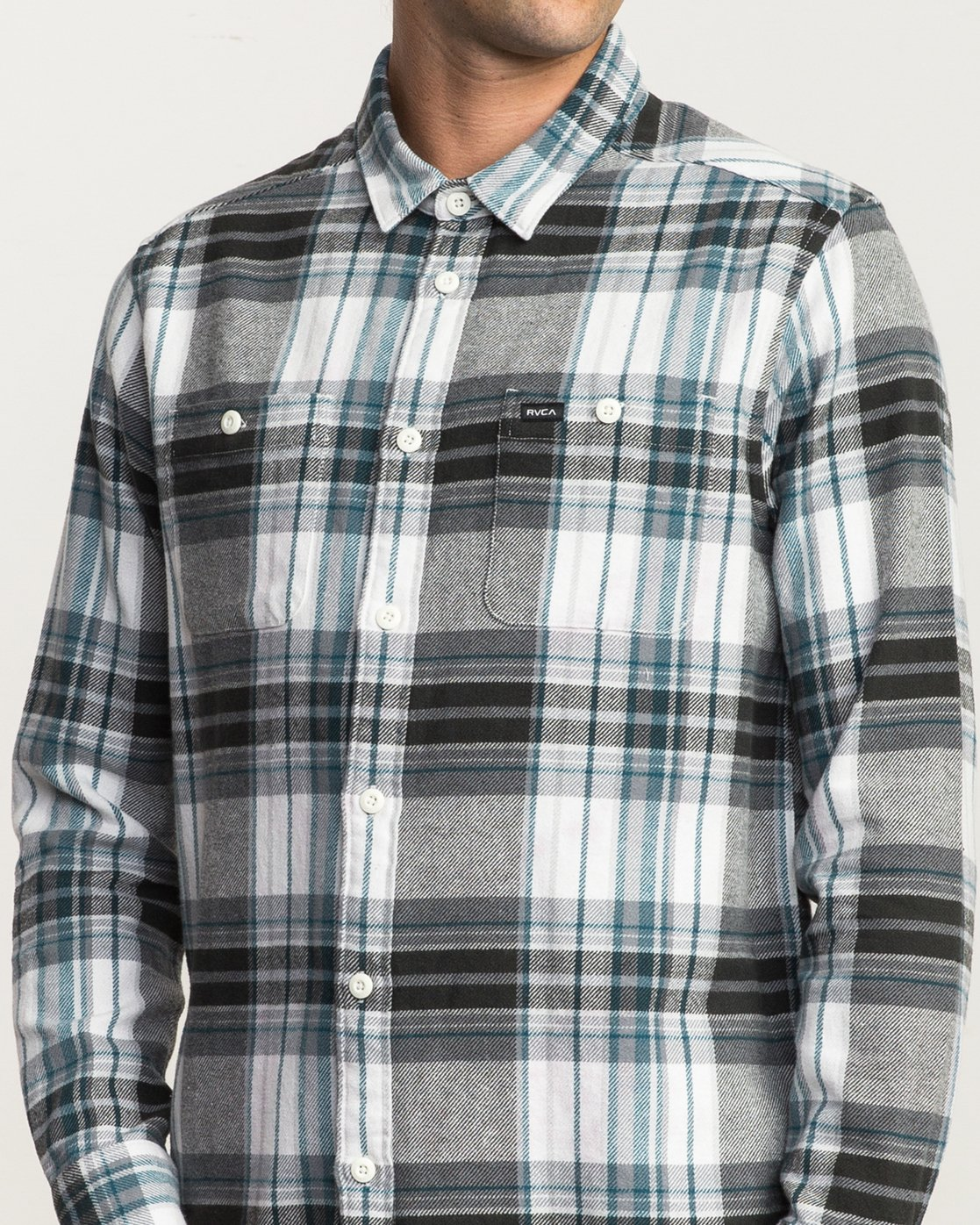 4 Ludlow Plaid Flannel White M551QRLU RVCA