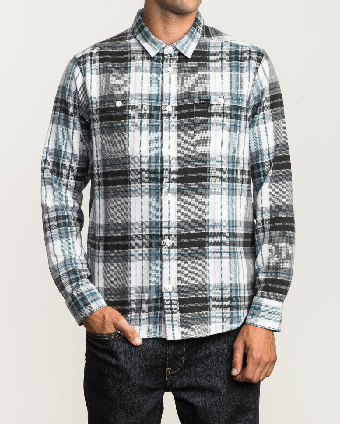 1 Ludlow Plaid Flannel White M551QRLU RVCA