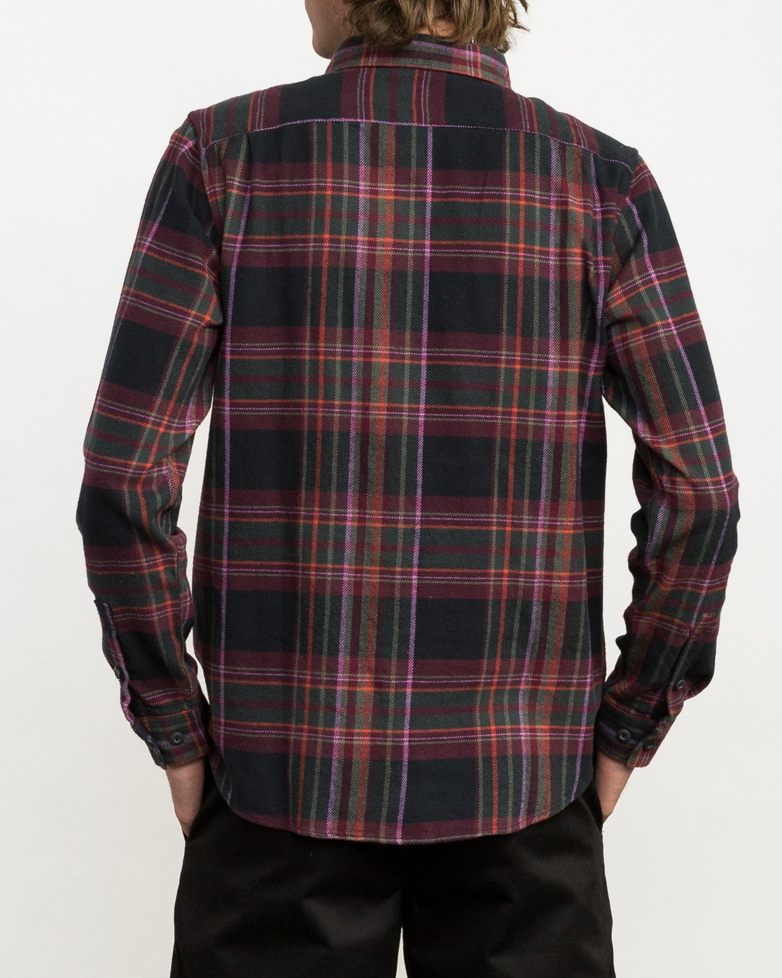 3 Ludlow Plaid Flannel Black M551QRLU RVCA