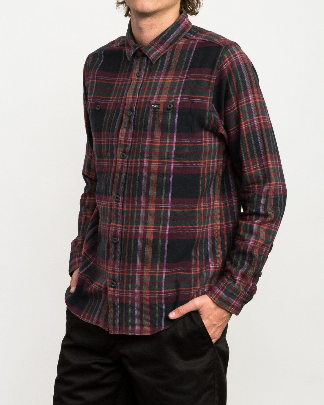 2 Ludlow Plaid Flannel Black M551QRLU RVCA