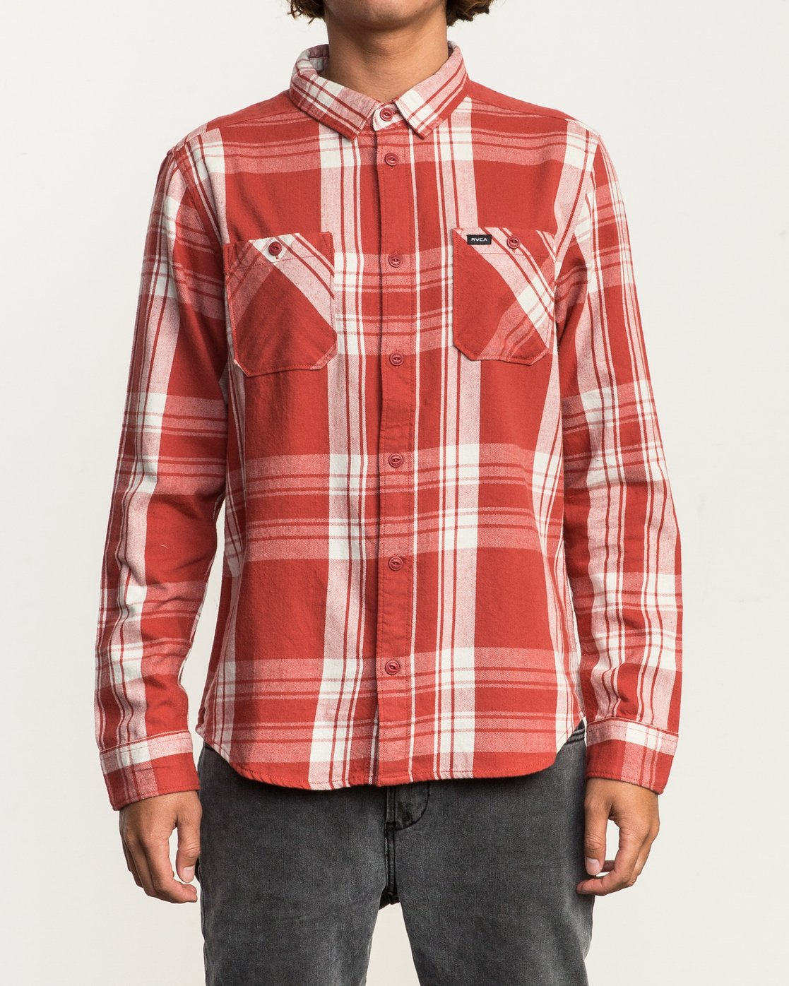 1 Wanted Lightweight Plaid Flannel Red M551SRWA RVCA