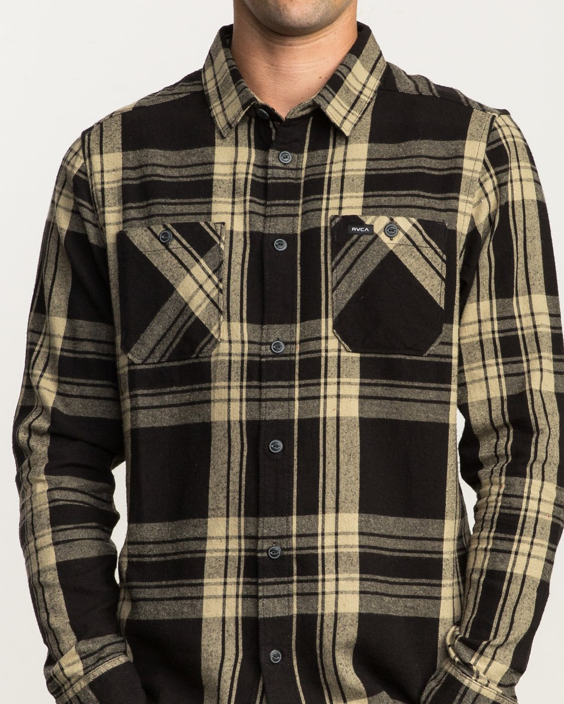4 Wanted Lightweight Plaid Flannel Black M551SRWA RVCA