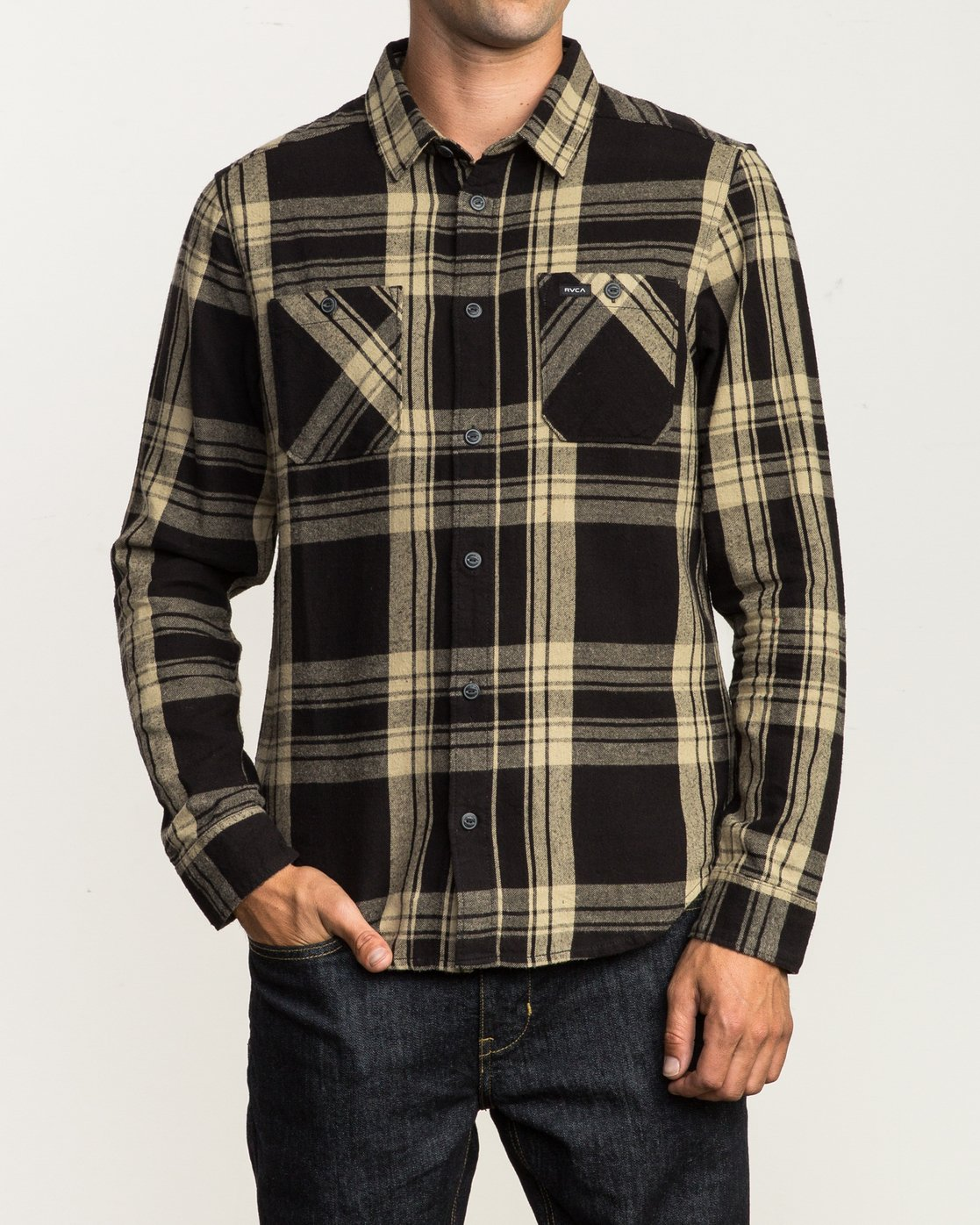 1 Wanted Lightweight Plaid Flannel Black M551SRWA RVCA