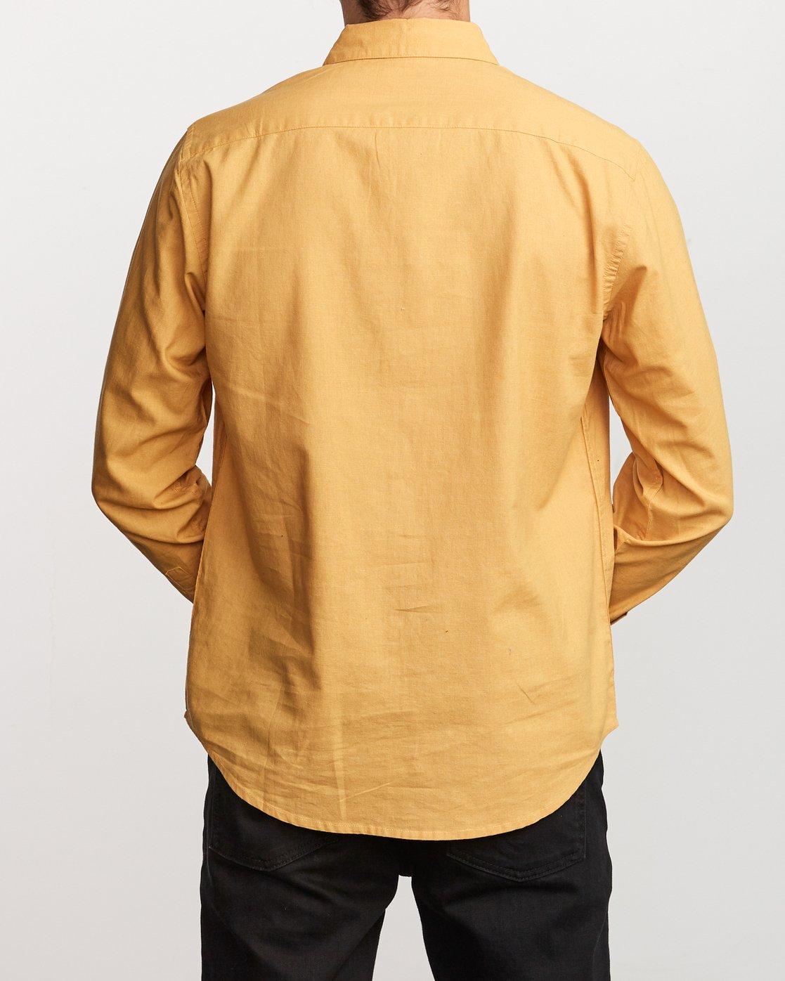 1 Crushed Washed Long Sleeve Shirt  M551VRCR RVCA