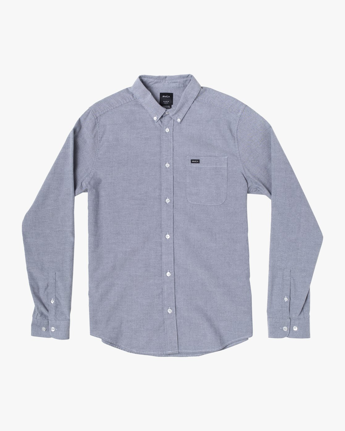 4 That'll Do Stretch Long Sleeve Shirt Blue M551VRTD RVCA