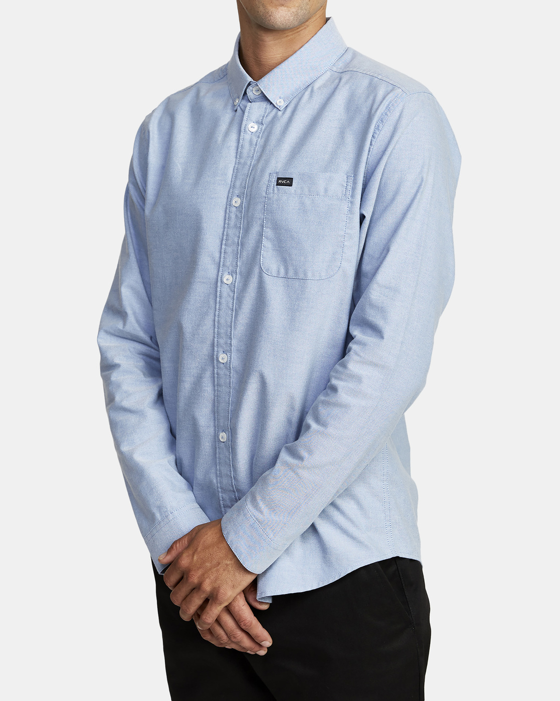 2 THAT'LL DO STRETCH LONG SLEEVE SHIRT Blue M551VRTD RVCA