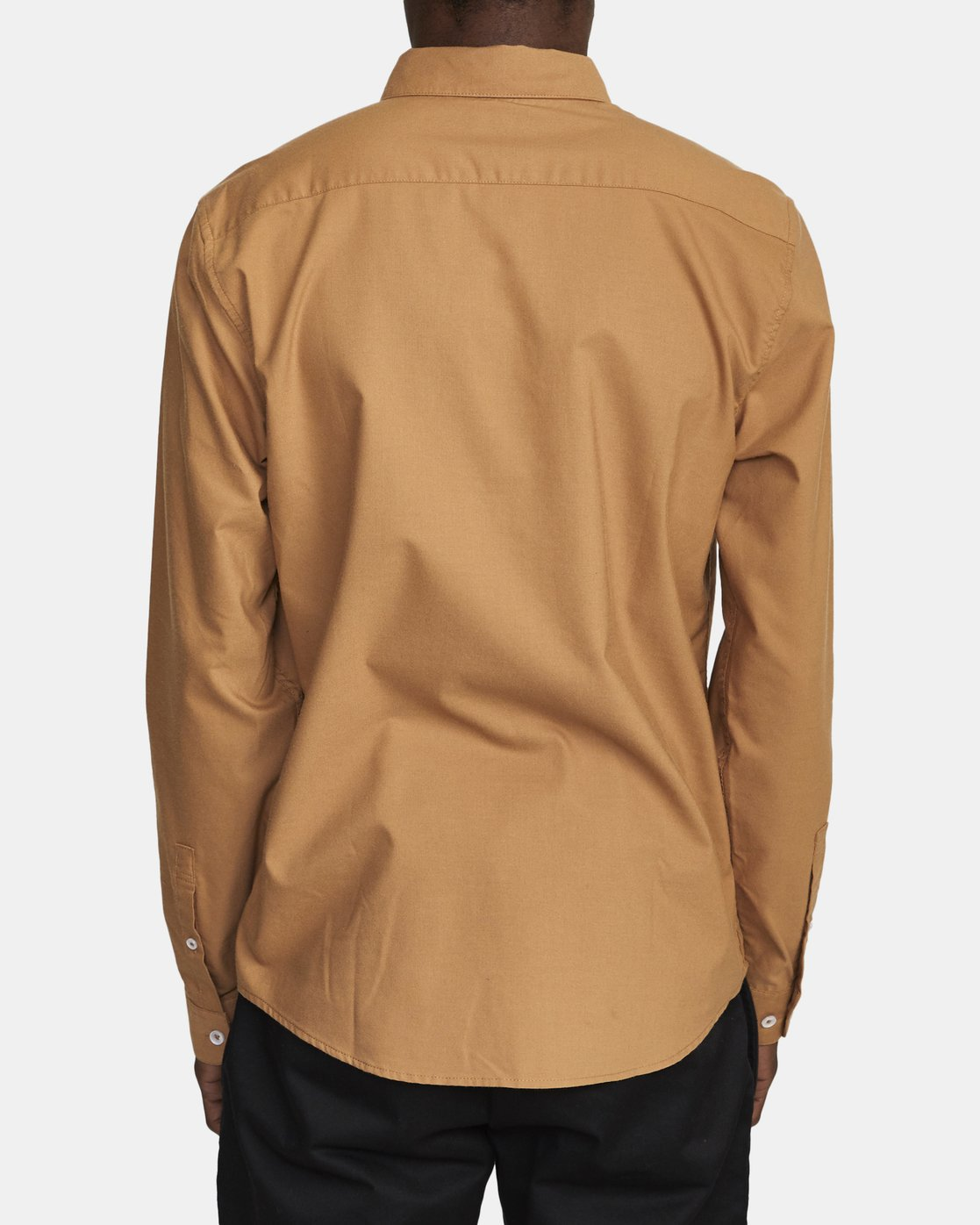 3 THATLL DO STRETCH LONG SLEEVE SHIRT Brown M551VRTD RVCA
