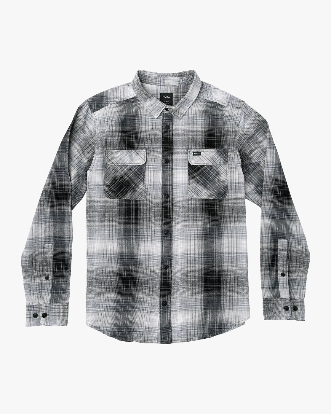 4 Muir Plaid Long Sleeve Flannel  Black M552TRMF RVCA