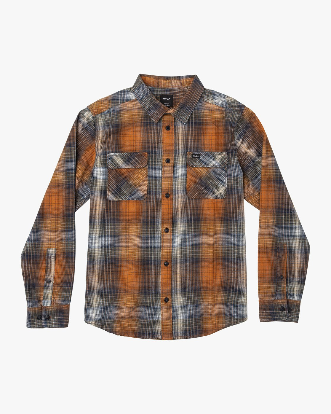 5 Muir Plaid Long Sleeve Flannel  Orange M552TRMF RVCA