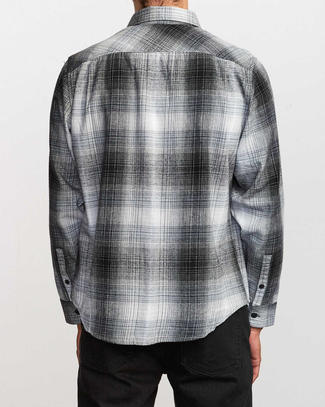 3 Muir Plaid Long Sleeve Flannel  Black M552TRMF RVCA
