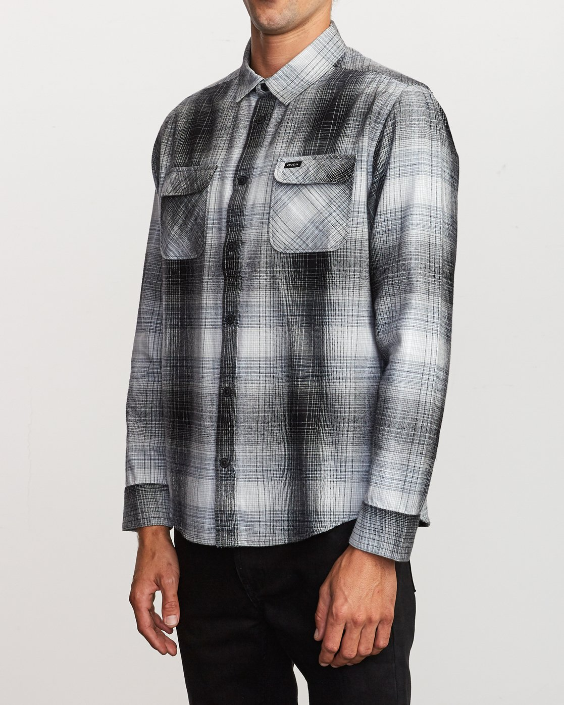 2 Muir Plaid Long Sleeve Flannel  Black M552TRMF RVCA