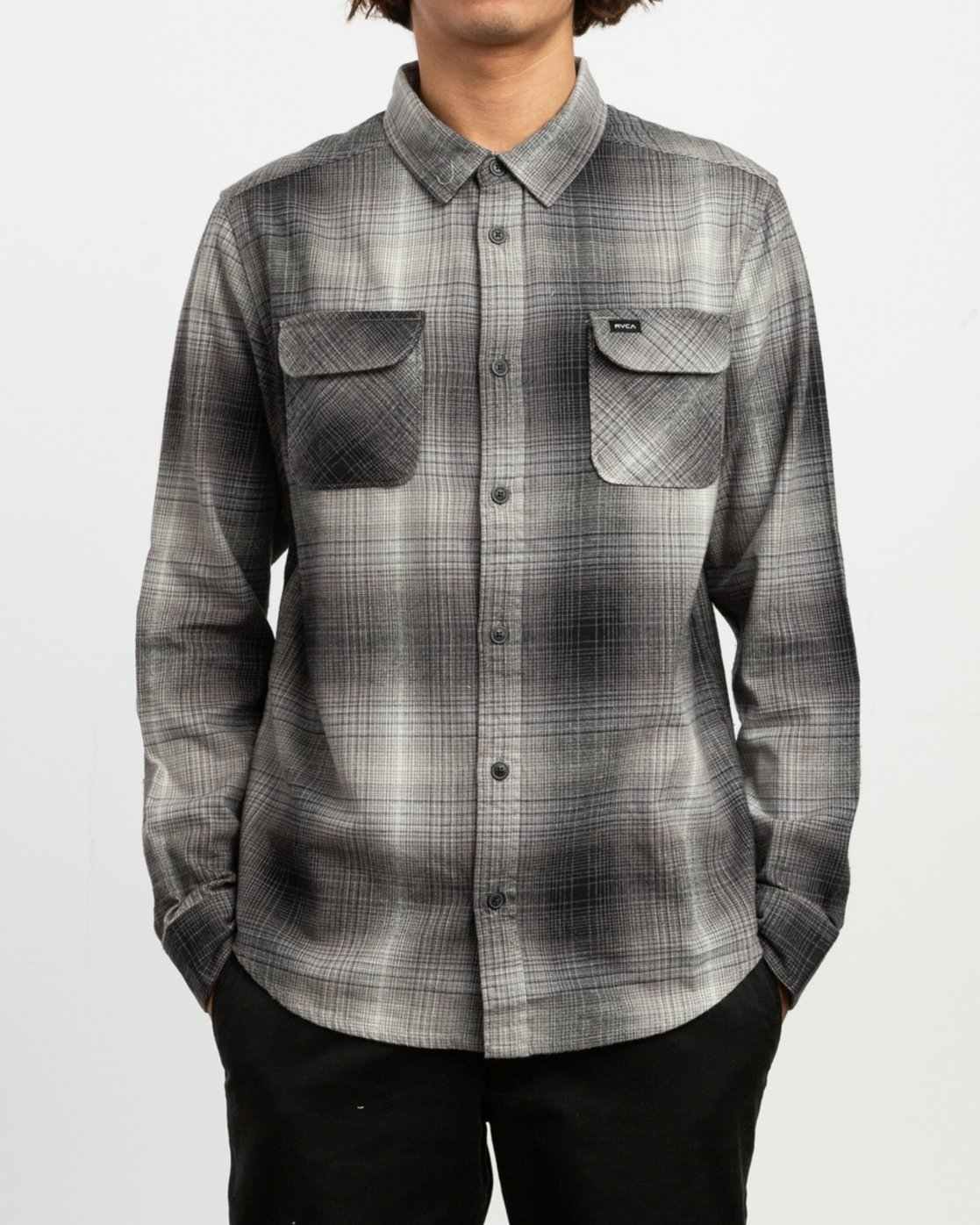 1 Muir Plaid Long Sleeve Flannel Black M552TRMF RVCA