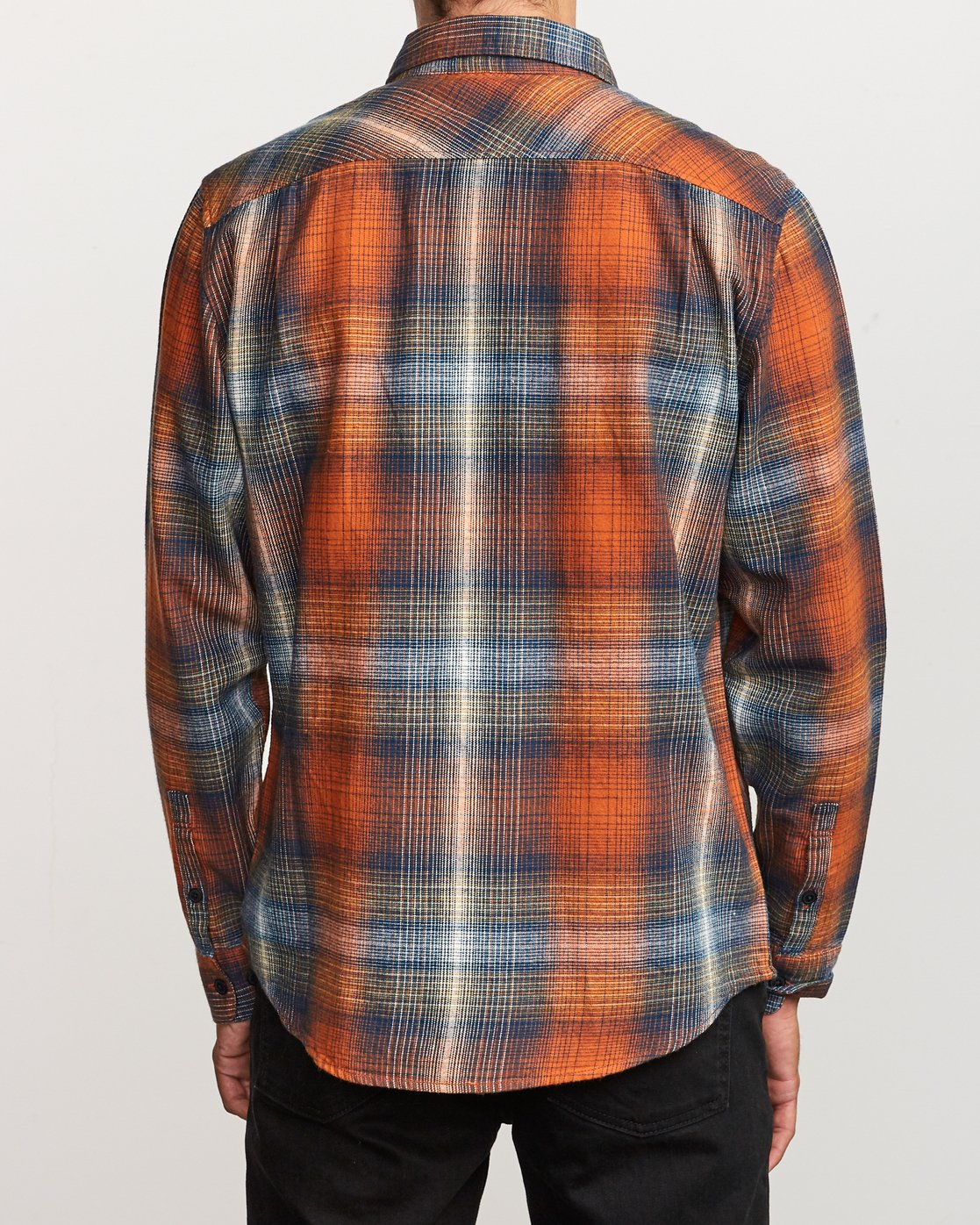 2 Muir Plaid Long Sleeve Flannel  Orange M552TRMF RVCA
