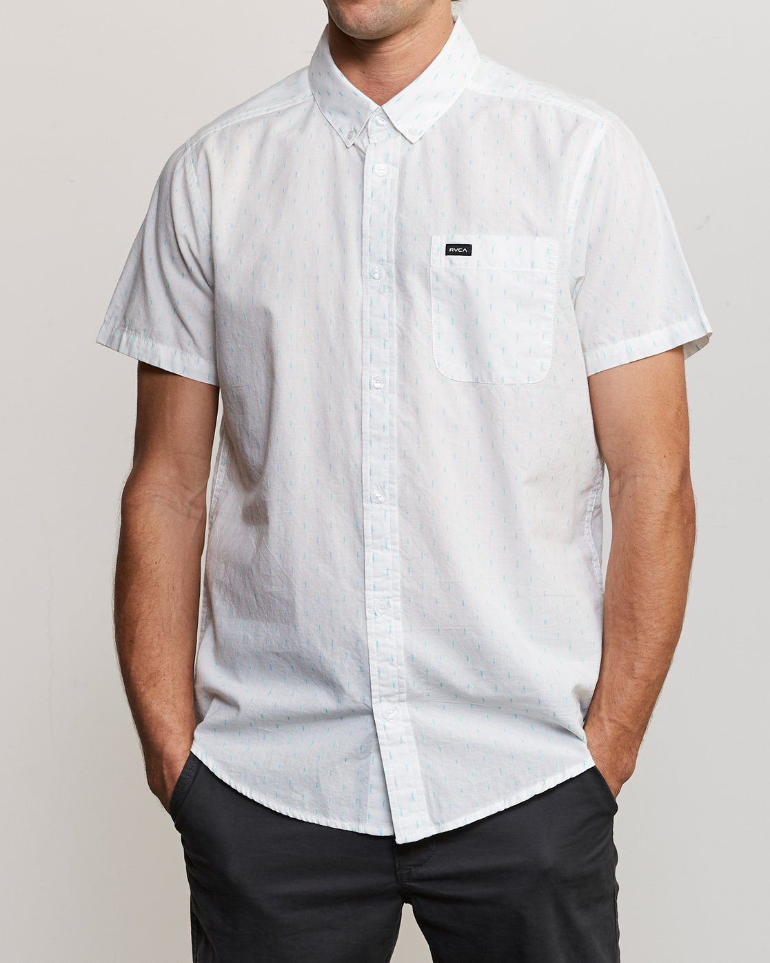 1 That'll Do Hi Grade II Button-Up Shirt White M552URTH RVCA