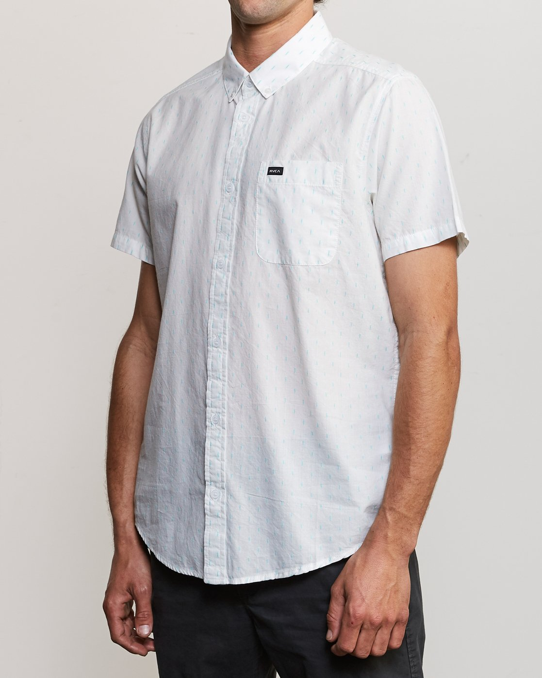 2 That'll Do Hi Grade II Button-Up Shirt White M552URTH RVCA