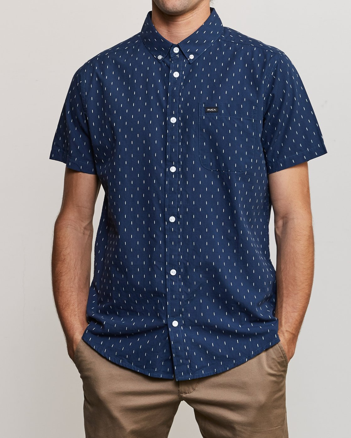 1 That'll Do Hi Grade II Button-Up Shirt Blue M552URTH RVCA