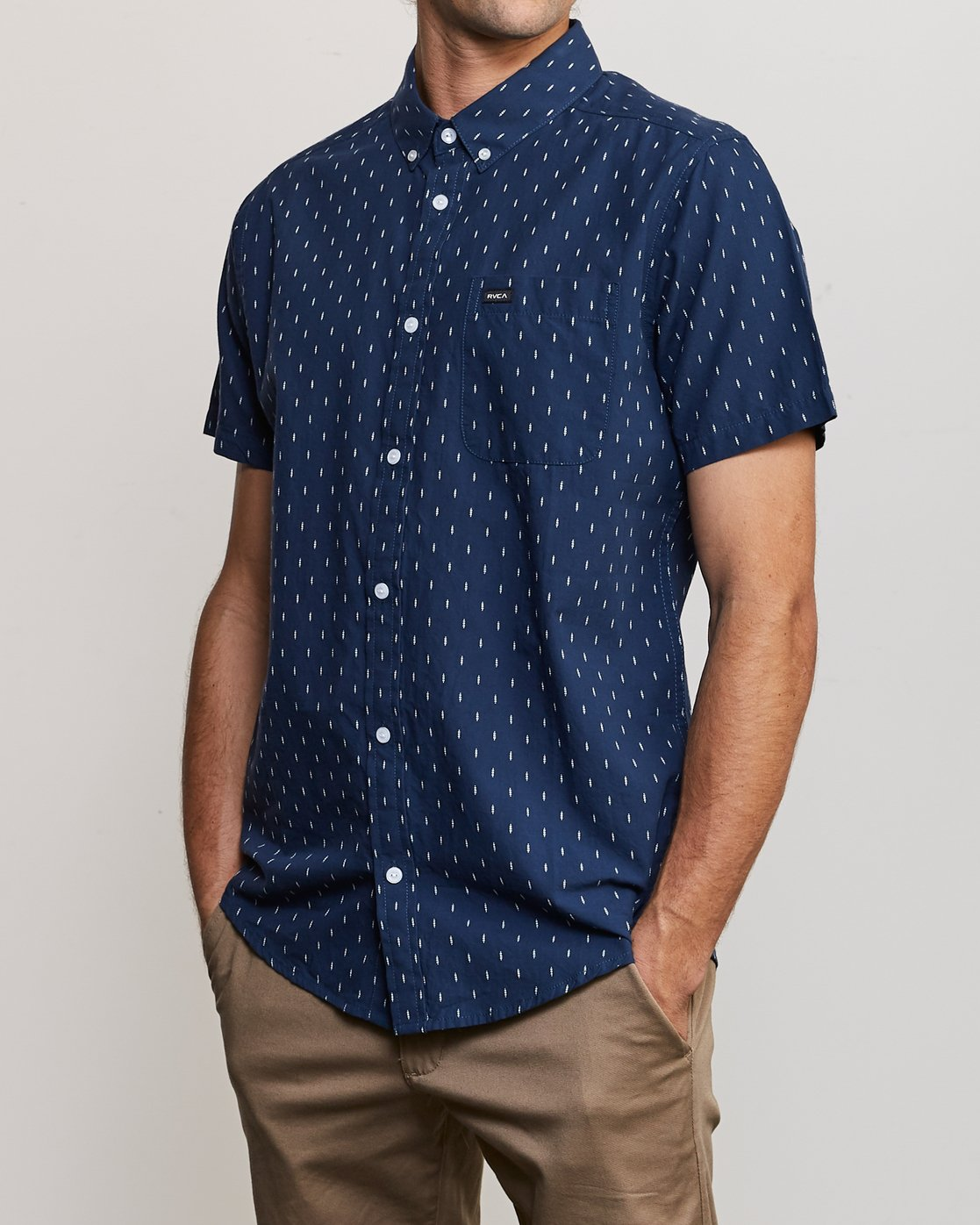 3 That'll Do Hi Grade II Button-Up Shirt Blue M552URTH RVCA