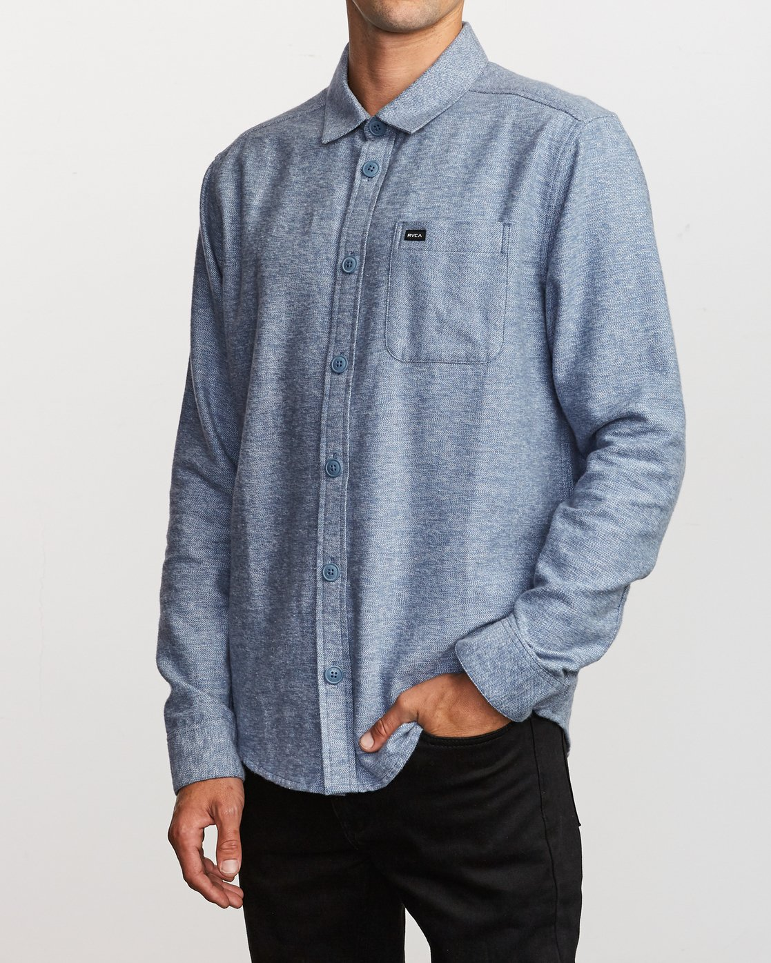 2 Black Sand Flannel Blue M552VRBS RVCA