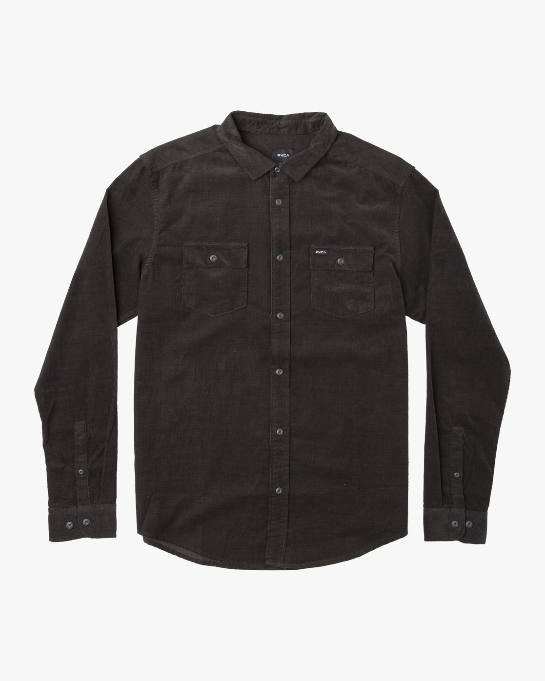0 Freeman Corduroy Long Sleeve Shirt Black M552VRFC RVCA