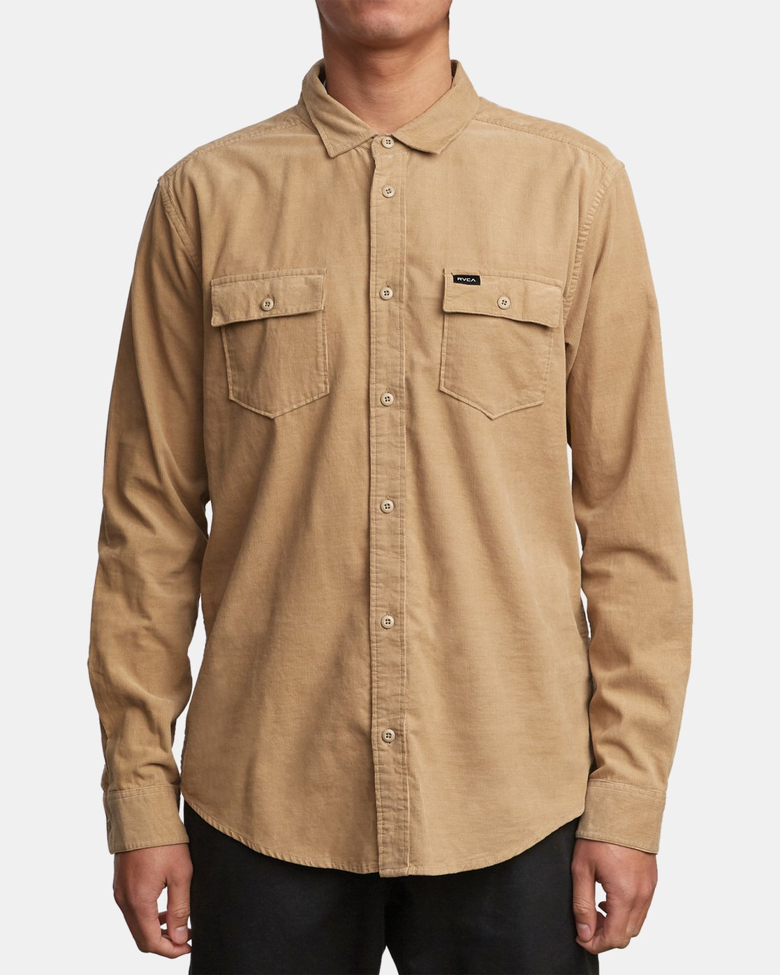 1 Freeman Corduroy Long Sleeve Shirt Yellow M552VRFC RVCA