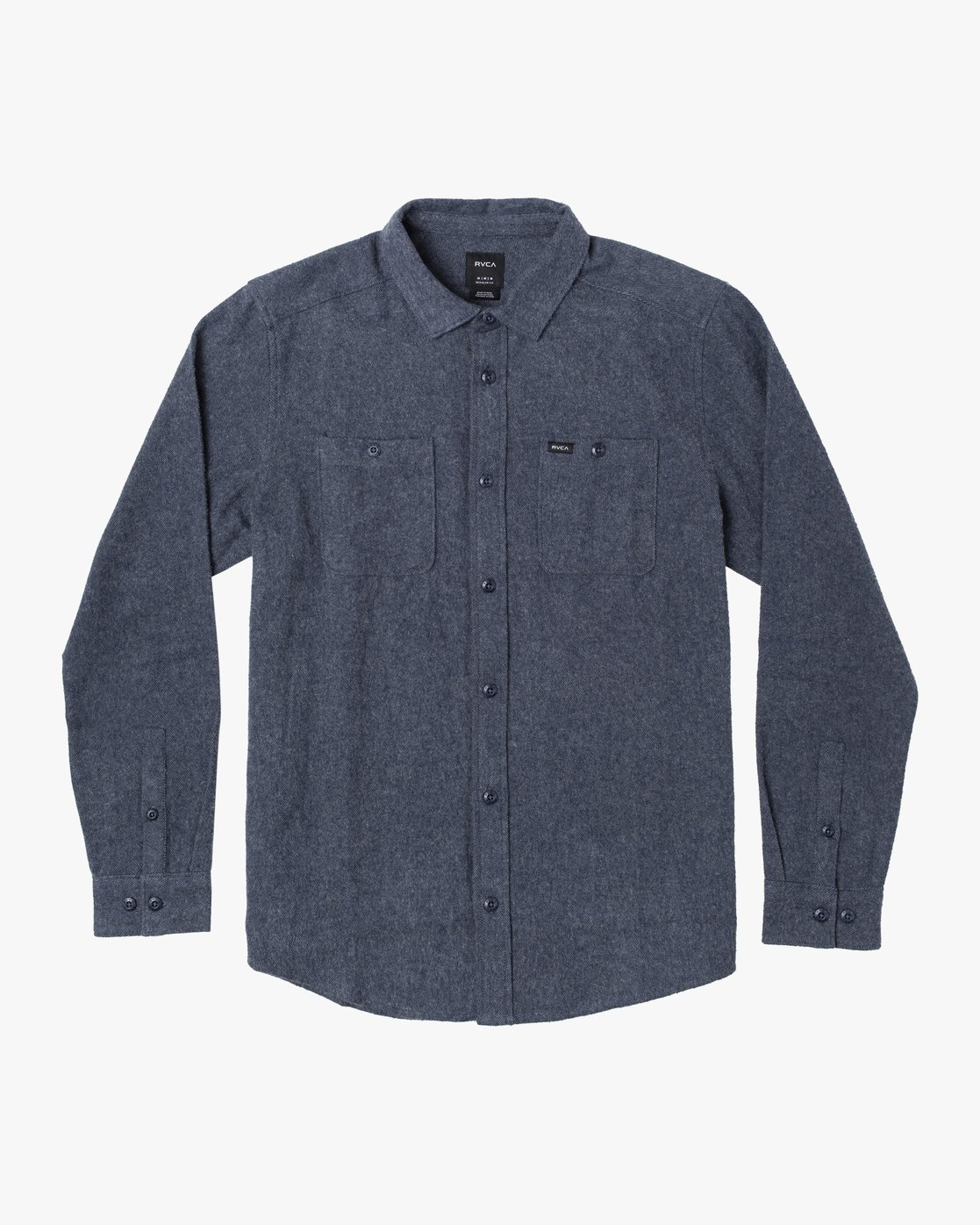0 HARVEST LONG SLEEVE FLANNEL Blue M5533RHF RVCA