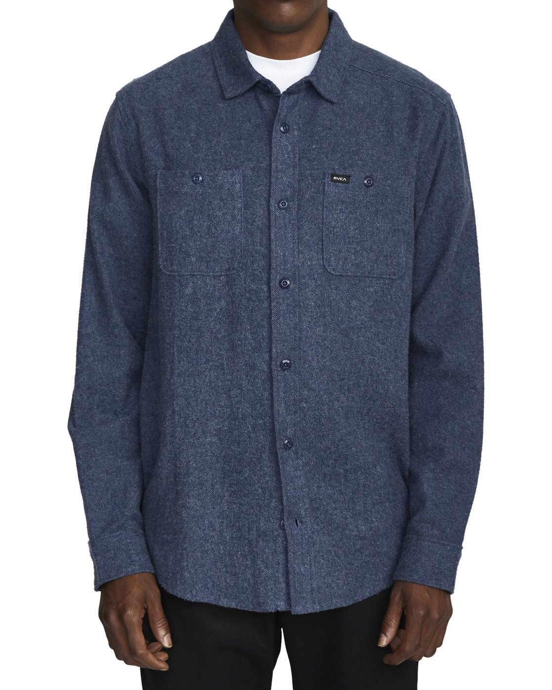 5 HARVEST LONG SLEEVE FLANNEL Blue M5533RHF RVCA