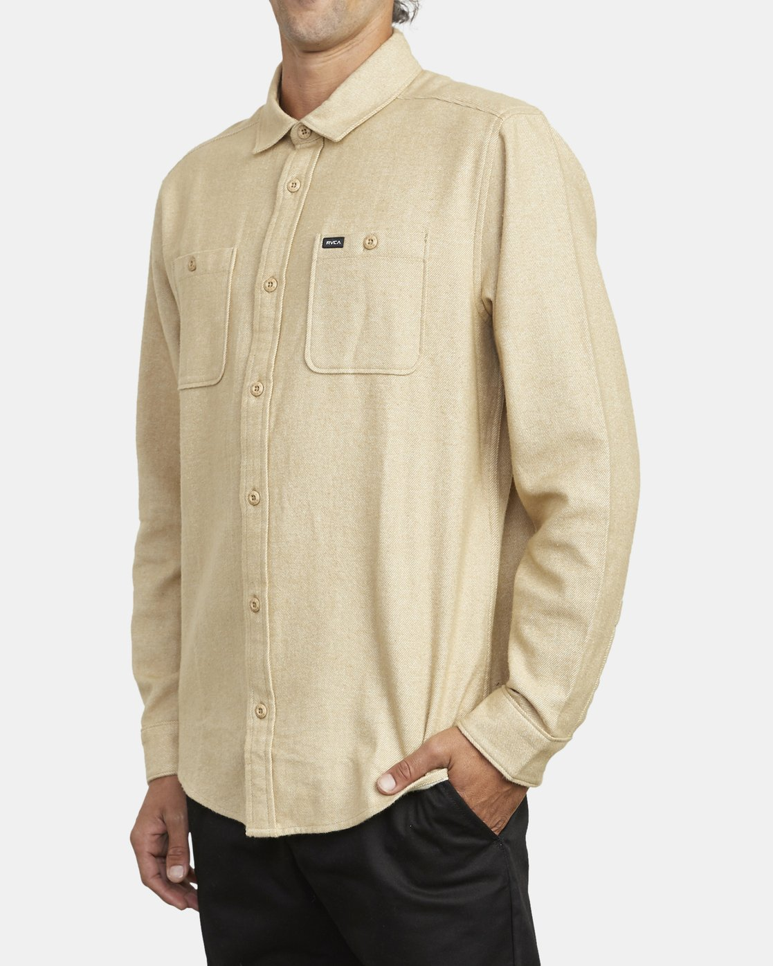 2 HARVEST LONG SLEEVE FLANNEL Beige M5533RHF RVCA