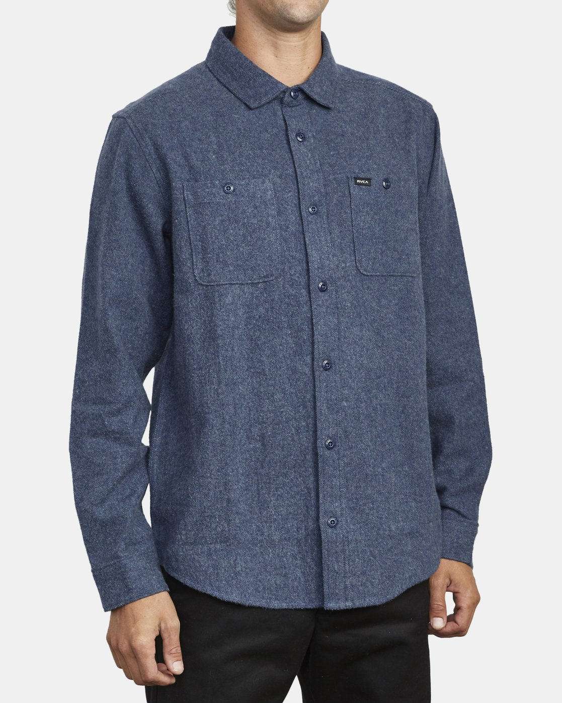 4 HARVEST LONG SLEEVE FLANNEL Blue M5533RHF RVCA