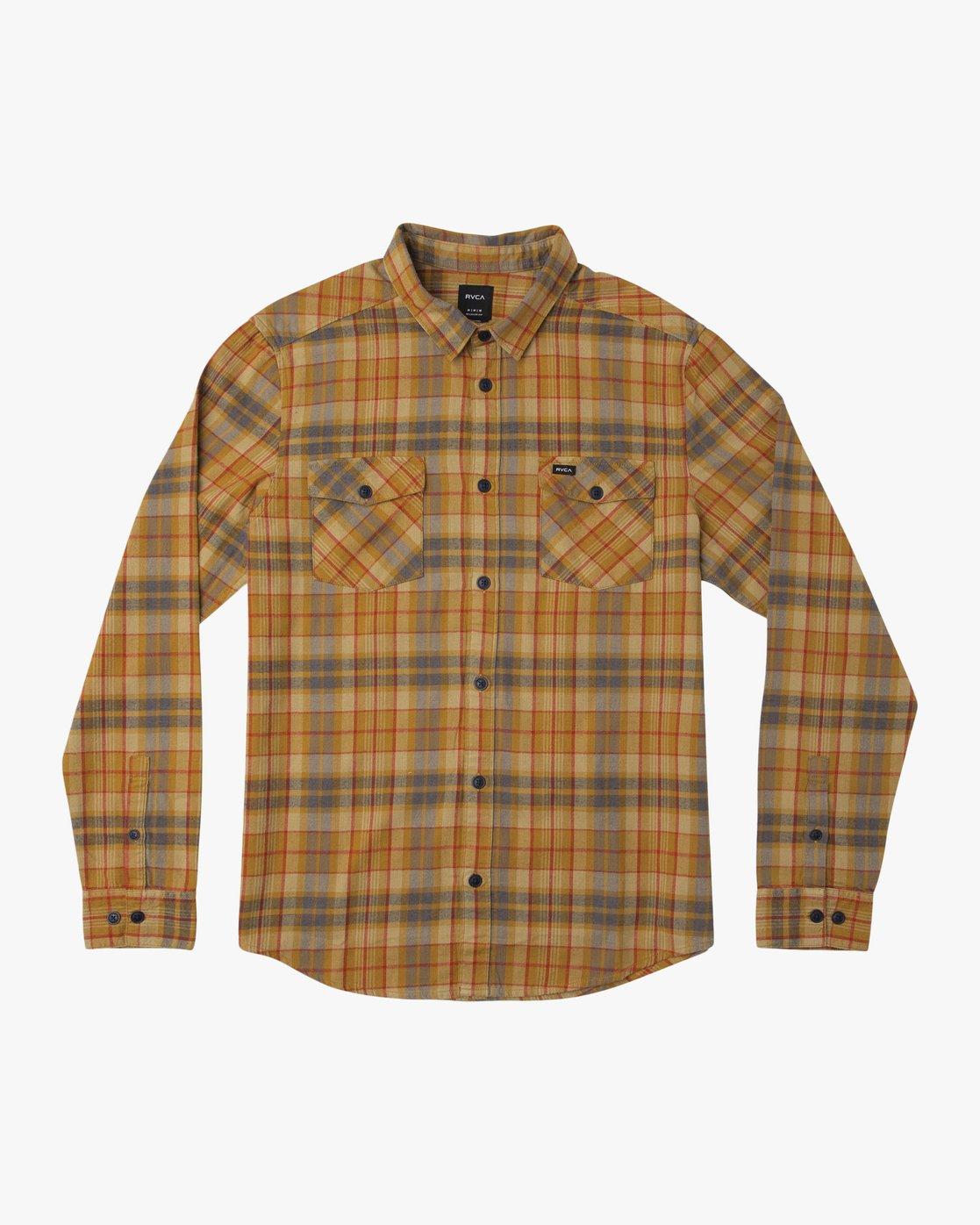 0 Watt Plaid Long Sleeve Flannel Green M553TRWF RVCA