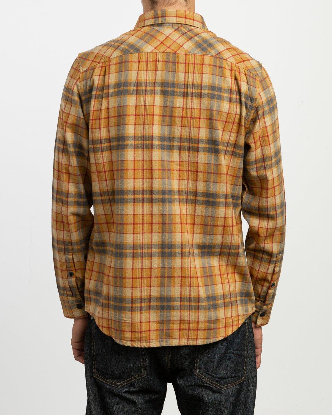 3 Watt Plaid Long Sleeve Flannel Green M553TRWF RVCA