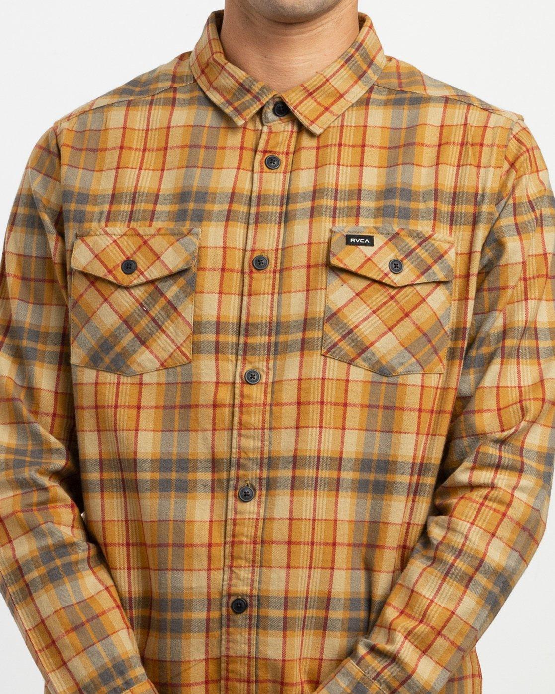 3 Watt Plaid Long Sleeve Flannel Beige M553TRWF RVCA