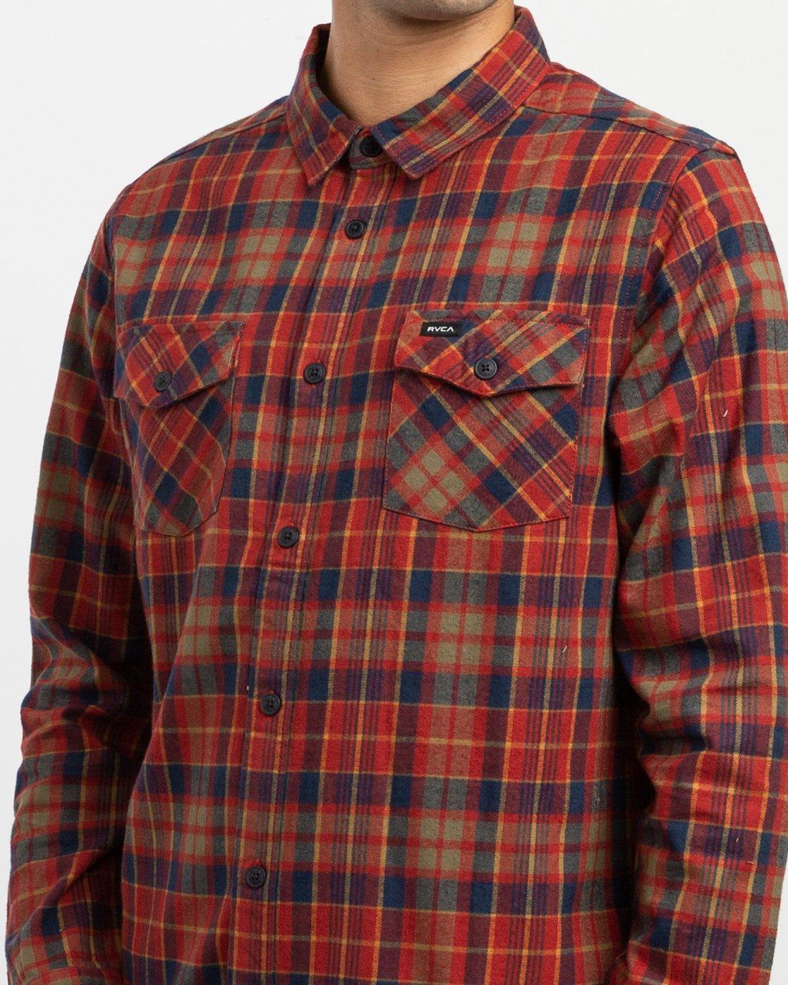 5 Watt Plaid Long Sleeve Flannel Red M553TRWF RVCA